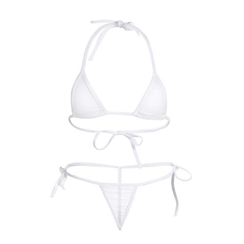 CHICTRY Transparenter Damen Bikini Sets aus Netz Triangel Bikinis...
