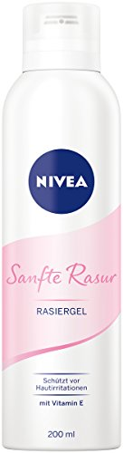 NIVEA Sanfte Rasur Rasiergel im 1er Pack (1 x 200 ml), ermöglicht...