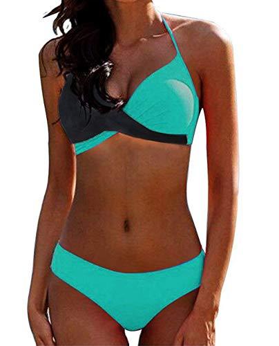 CheChury Damen Bademode Push Up Bikini Set Zweiteilige Badeanzug...