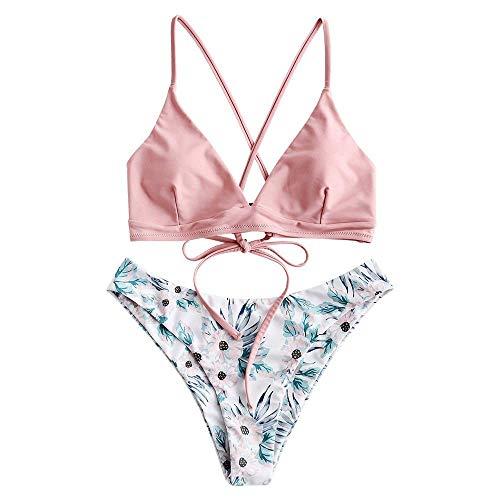 ZAFUL zweiteilig Bikini-Set mit verstellbarem BH Push-Up Rücken,...