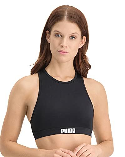 PUMA Damen Swimwear Racerback Bikini, Schwarz, S