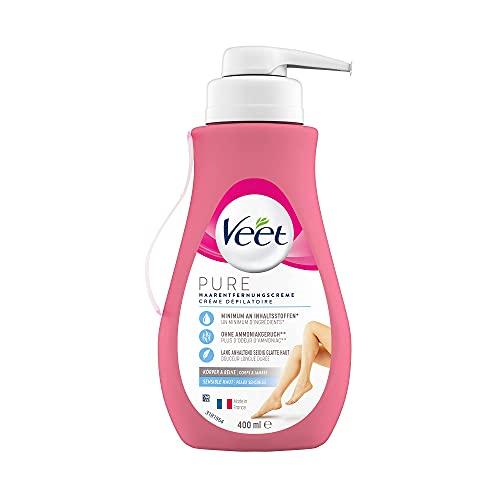 Veet Sensitive Haarentfernungscreme – Schnelle & effektive...