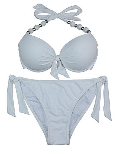 EONAR Damen Herausnehmbare, gepolsterte Push Up Bikini Set Tie Side...