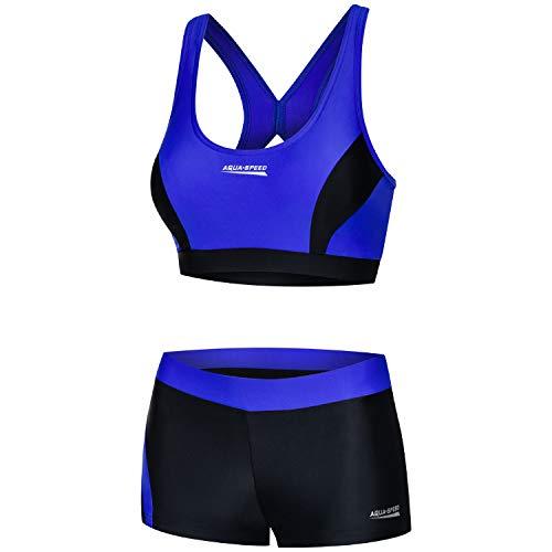 Aqua Speed Sport Schwimmbikini Set Damen   Bikini schwarz-blau   Two...