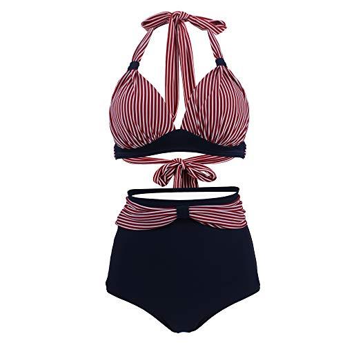 Viloree Vintage 50s Damen Bademode Bikini Set Push Up Hoher Taille...