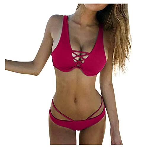 TSPRING Bikini Damen Sexy Brasil Bikini Damen Sexy Bandeau Bikini...