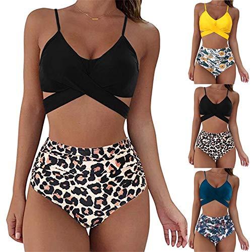 Badeanzug MäDchen 164 High Waist Wrap Bikini Bottoms Tankini...